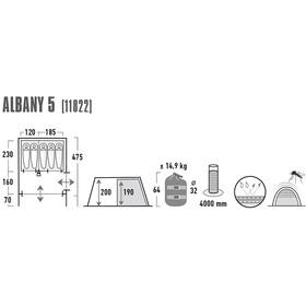 High Peak Albany 5 Tent Grey/Blue